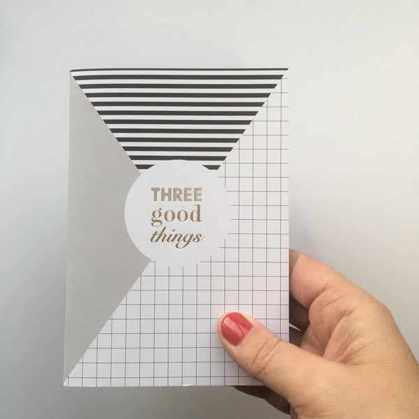 Three good things notebook (geometric)