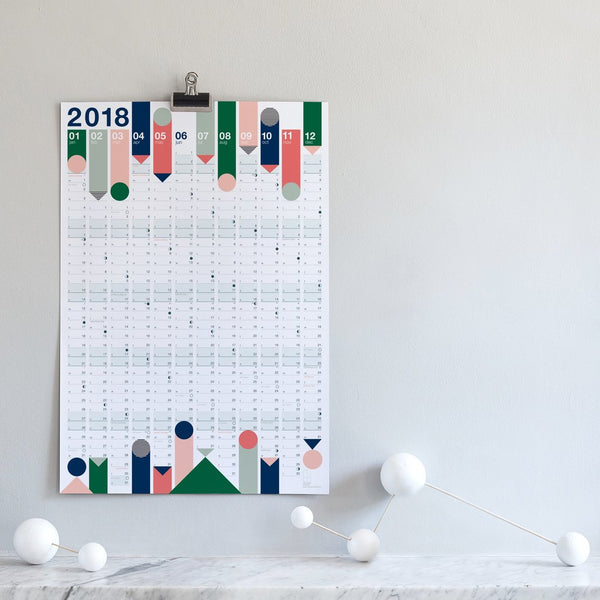2018 wall calendar - colour