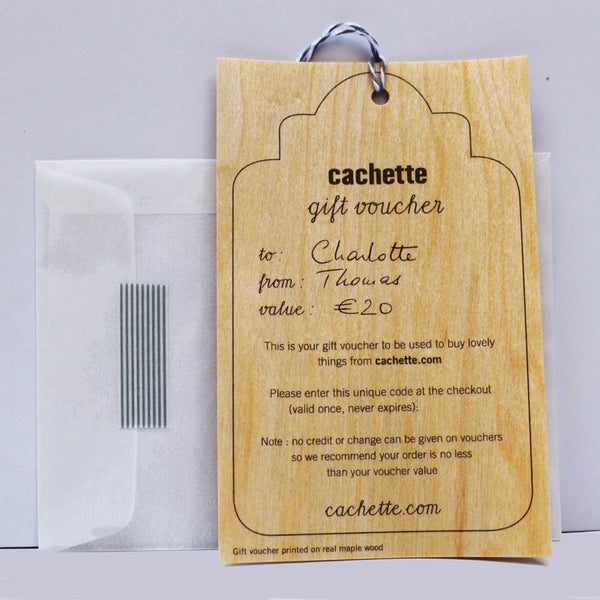 gift voucher from 10€ to 200€Cachette- Cachette