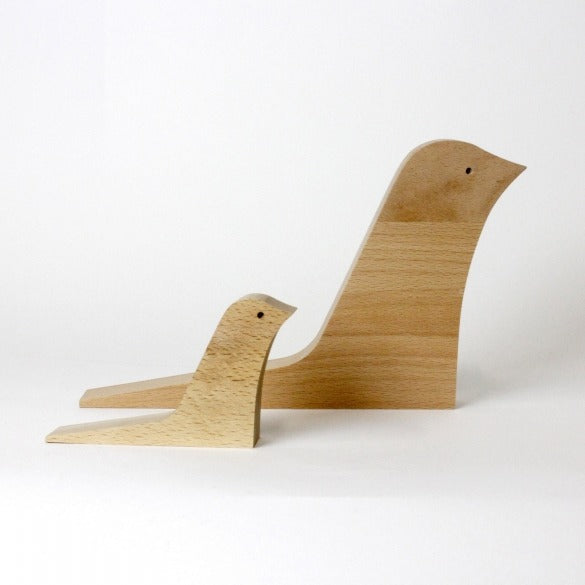 Wooden bird door stopper (2 sizes avalable)