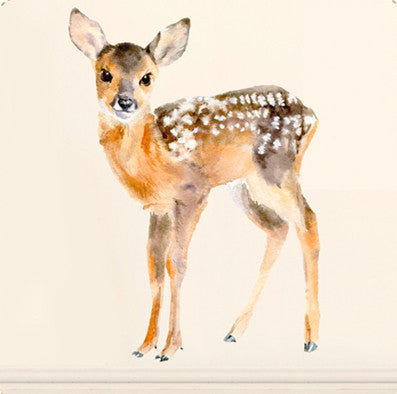 Baby deer wall sticker (2 sizes to choose)Chocovenyl- Cachette