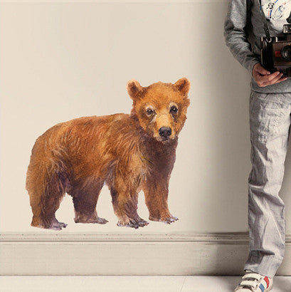 Bear wall sticker 50 x 46.5cmChocovenyl- Cachette