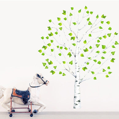 Birch Tree on its own wall sticker (1m50 or 2m tall)Chocovenyl- Cachette