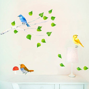 Birds and branch wall stickersChocovenyl- Cachette
