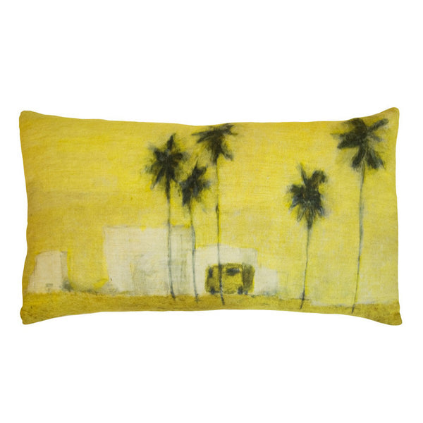 Camion Verde linen cushion cover 50x30cm (inner available too)Maison Lévy- Cachette