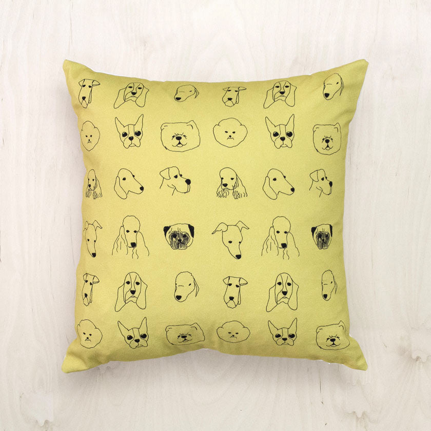 Cotton cushion with duck feathers - DogsBaines and Fricker- Cachette