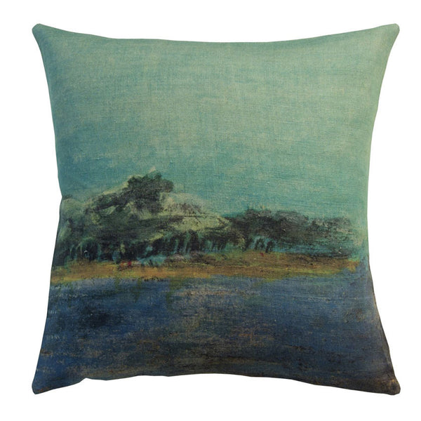 Emeraude linen cushion cover square (2 sizes inner available tooMaison Lévy- Cachette