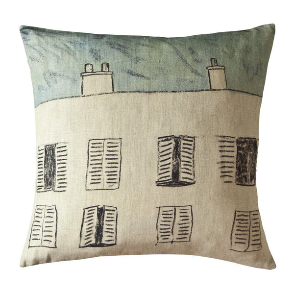 Fenetres linen cushion cover square (2 sizes inner available)