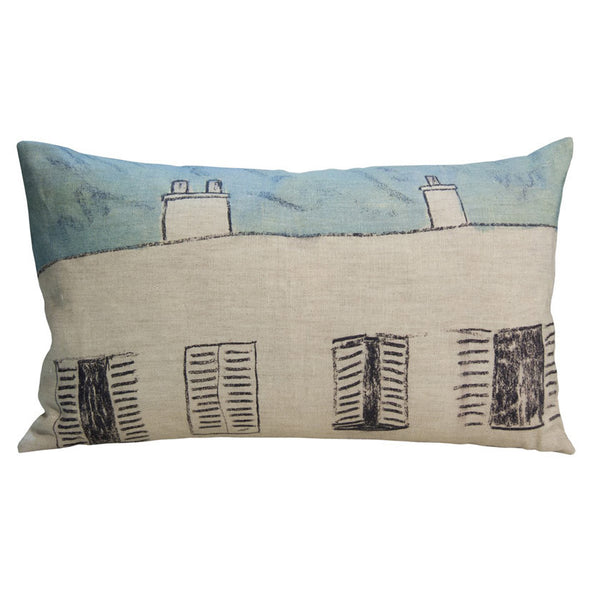 Fenetres linen cushion cover 50x30cm (inner available too)Maison Lévy- Cachette