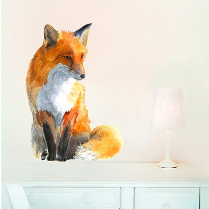 Fox wall sticker 50 x 36cmChocovenyl- Cachette