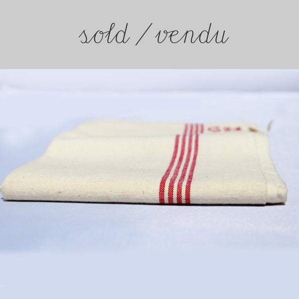 French cotton tea towel (SOLD)Vintage- Cachette