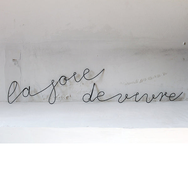 Bespoke wire word of your choice (price per letter)Beaux Souvenirs for Cachette- Cachette