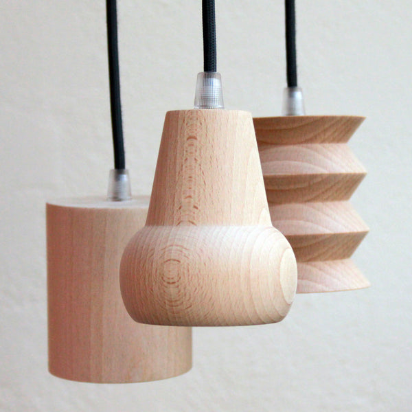 geometric beech suspension light (3 shapes to choose from)Un esprit en plus- Cachette