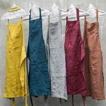 Linen apron (3 sizes)bed and philosophy- Cachette