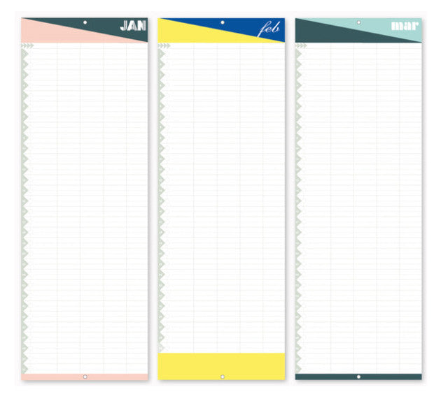 Monthly planner perpetual calendarLollipop Designs- Cachette