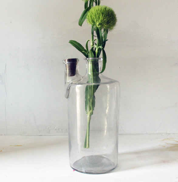 Glass bottle with double spout (SOLD)Vintage- Cachette