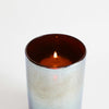 Hand blown glass candle holder
