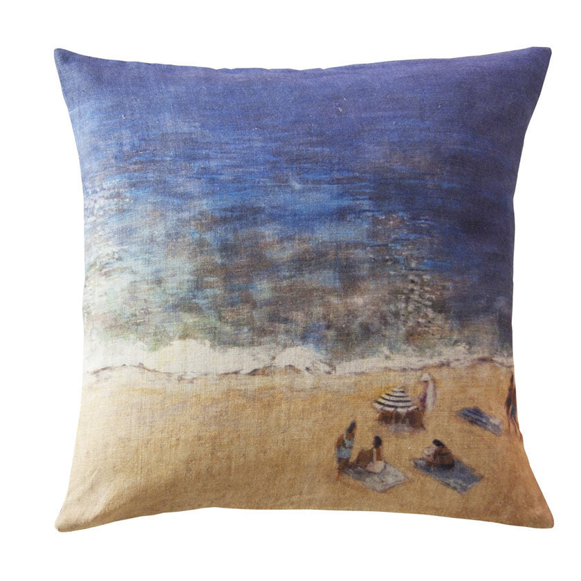 Plage linen cushion cover square (2 sizes inner available tMaison Lévy- Cachette