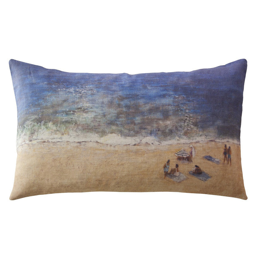 Plage linen cushion cover 50x30cm (inner available too)Maison Lévy- Cachette