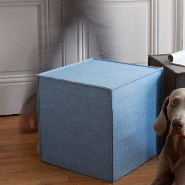 Pure wool felt stool - side table ( many colours)Metylos- Cachette