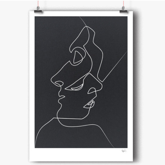 Close noir art print (various sizes)Balibart- Cachette