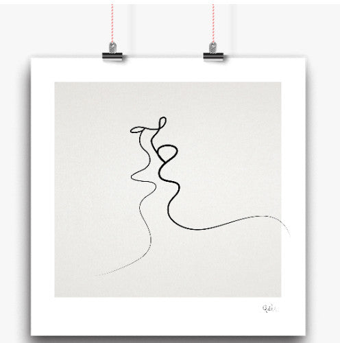 Kiss art print (various sizes)Balibart- Cachette