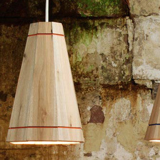 Recycled pallet wood lampshadeRescued- Cachette
