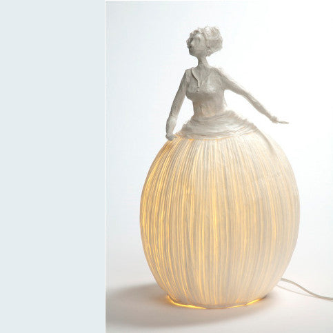 "Sculptural light paper ""Mademoiselle"""