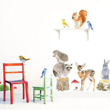 Set of animal wall stickers (3 choices)