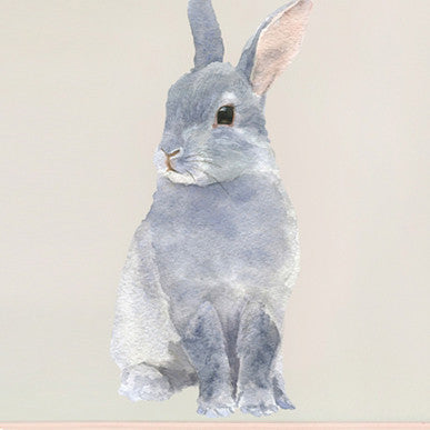 Small rabbit wall sticker 21 x 30 cmChocovenyl- Cachette