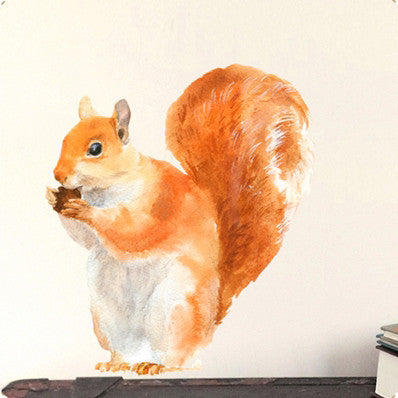 Small red squirrel wall sticker 21 x 30 cmChocovenyl- Cachette