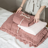 Fringed linen quilt (2 sizes 8 colours)