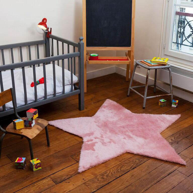 Soft star rug 140cm in pink