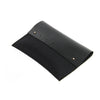 Black merino wool felt and leather ipad pouch (3 sizes)Twen- Cachette