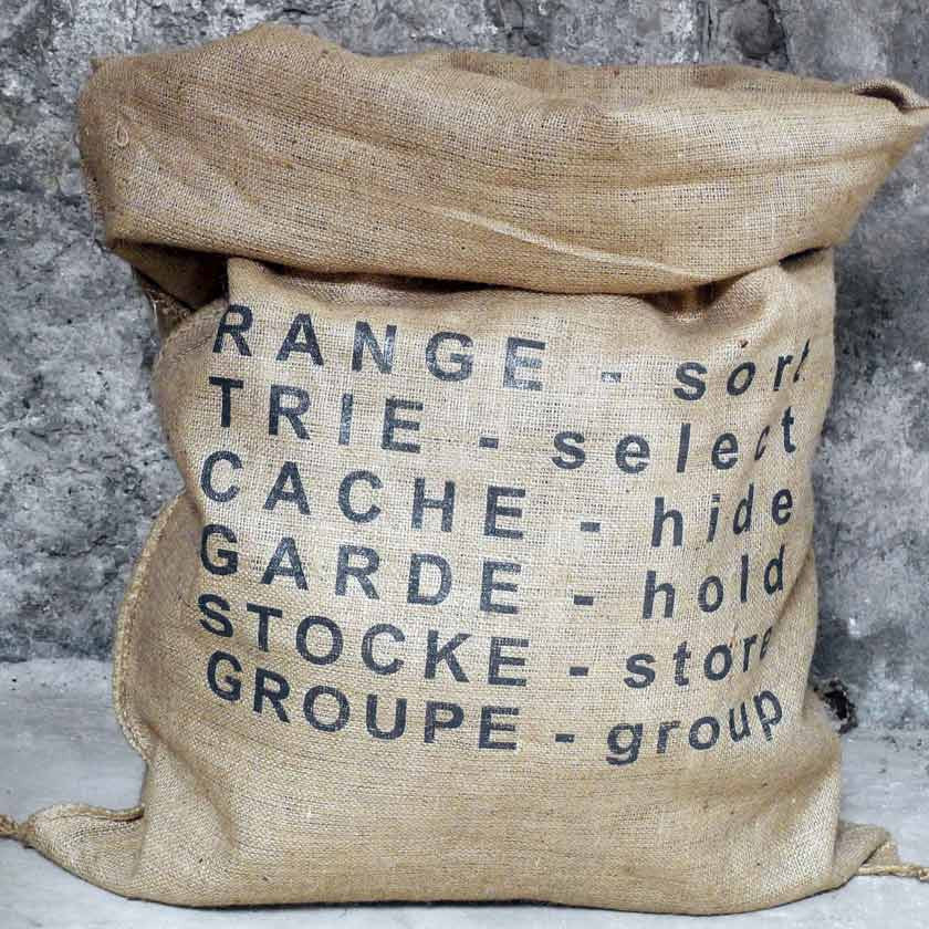 Storage bag in jute 75x100cmUn esprit en plus- Cachette