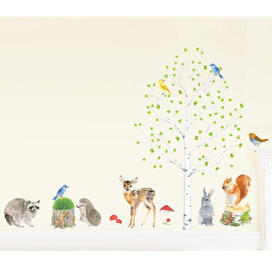 Tree + animals wall stickers (save by buying both)
