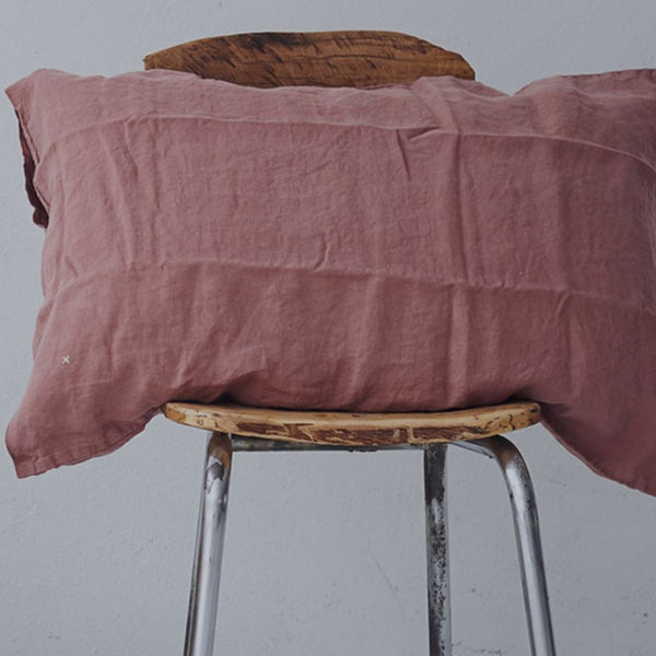 100% linen pillow case simple envelope (2 sizes 15 colours)
