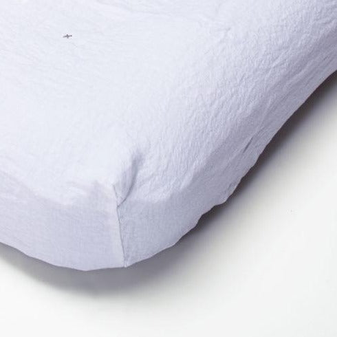 Linen fitted sheet 90x190 (many colours)