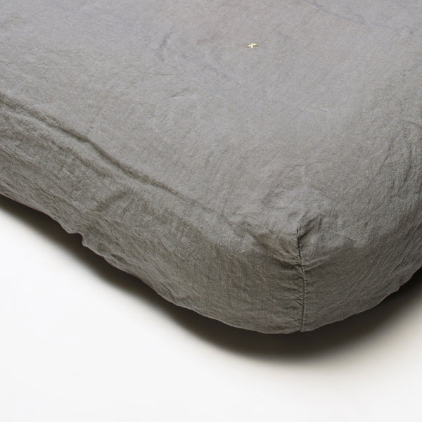100% linen fitted sheet for double bed (3 sizes 18 colours)