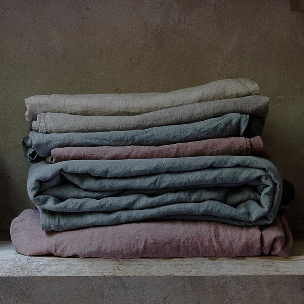100% linen duvet cover eco-friendly dyes (new)