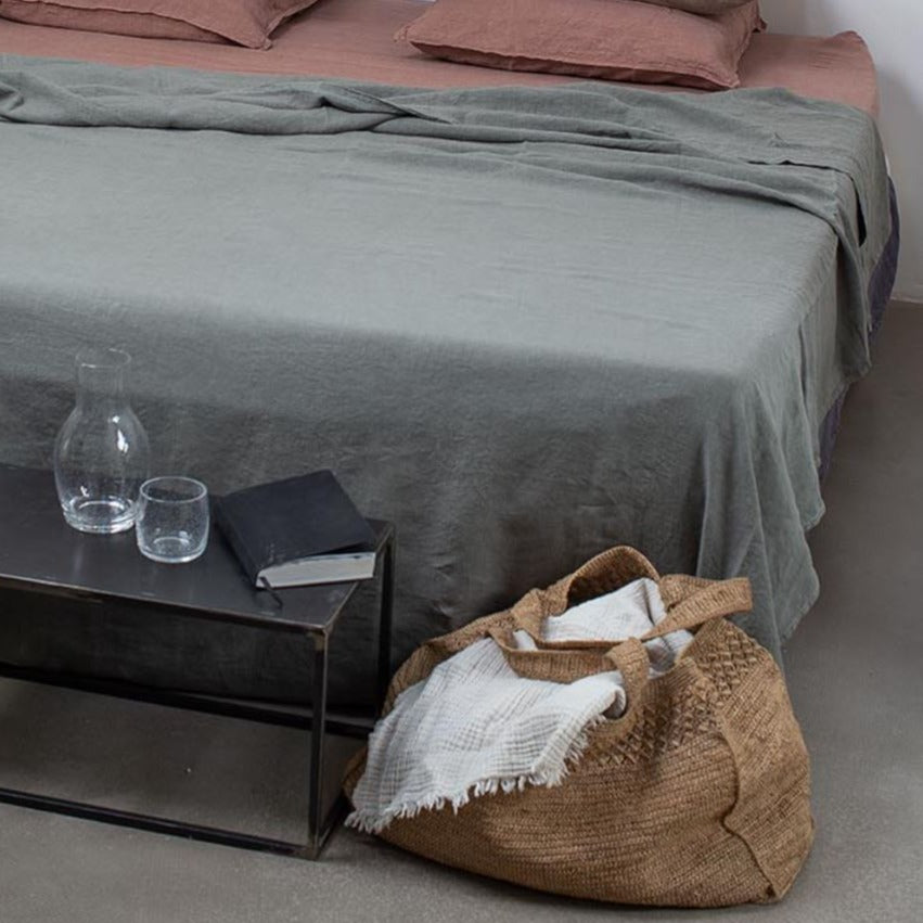 100% linen flat sheet eco-friendly dyes (new)
