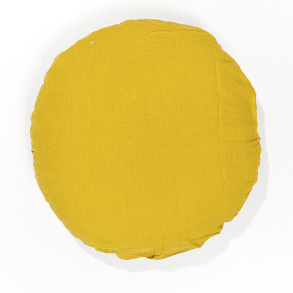 100% linen round linen pillow case (16 colours)