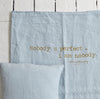 Summer linen throw 130x170cm (various messages and colours)bed and philosophy- Cachette