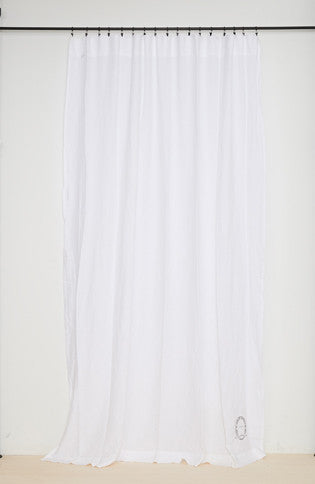 100% linen curtain (two sizes available) white