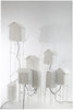 "Sculptural light ""huts"" (request pricing)papier a etre- Cachette"