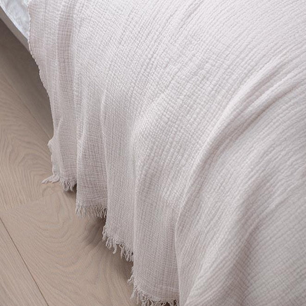 End of bed gauze throw 100x260cm (various colours)