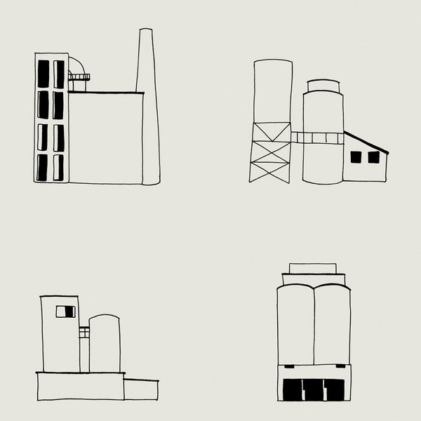cement works wallpaper (1 roll at 75% OFF)