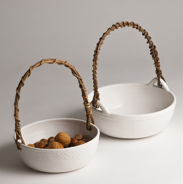 Handmade ceramic basket (two size options)Charlotte Storrs- Cachette