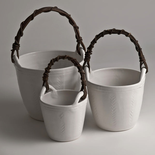 Handmade ceramic buckets (three size options)Charlotte Storrs- Cachette