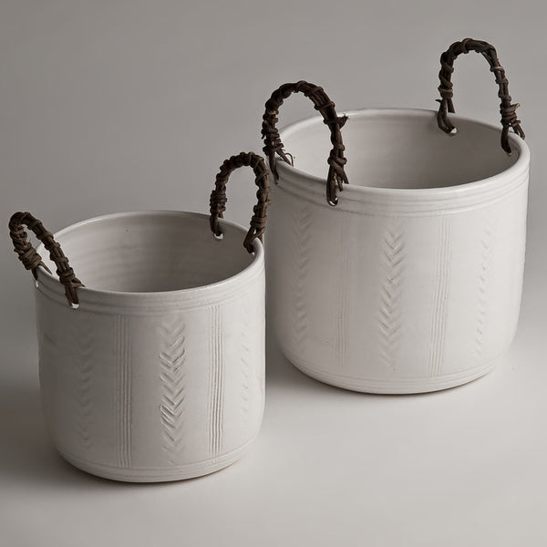 Handmade ceramic flower tubs or pots (two size options)Charlotte Storrs- Cachette